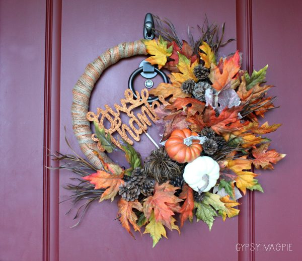 Thanksgiving wreath | Gypsy Magpie
