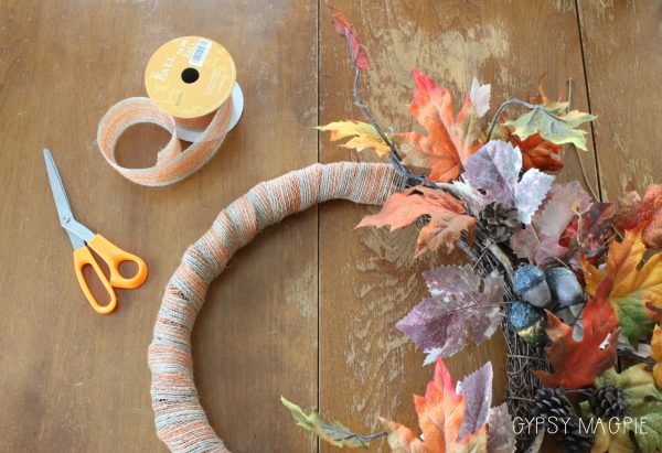 Refashioning an old wreath to give it new life for fall | Gypsy Magpie