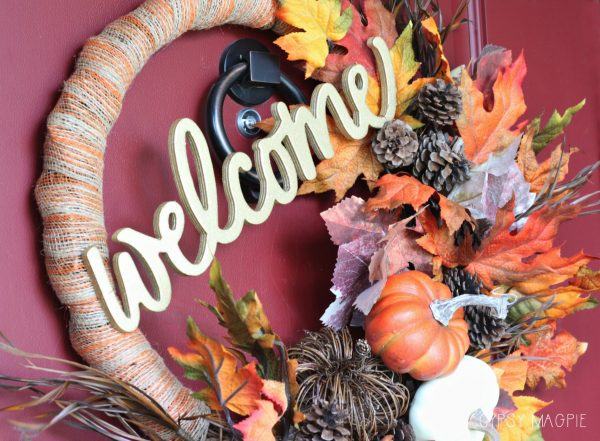 DIY fall welcome wreath | Gypsy Magpie