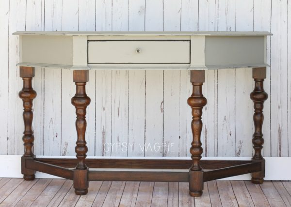 Empire Gray Entry Table | Gypsy Magpie