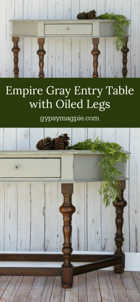 Empire Gray Table with Oiled Legs | Gypsy Magpie