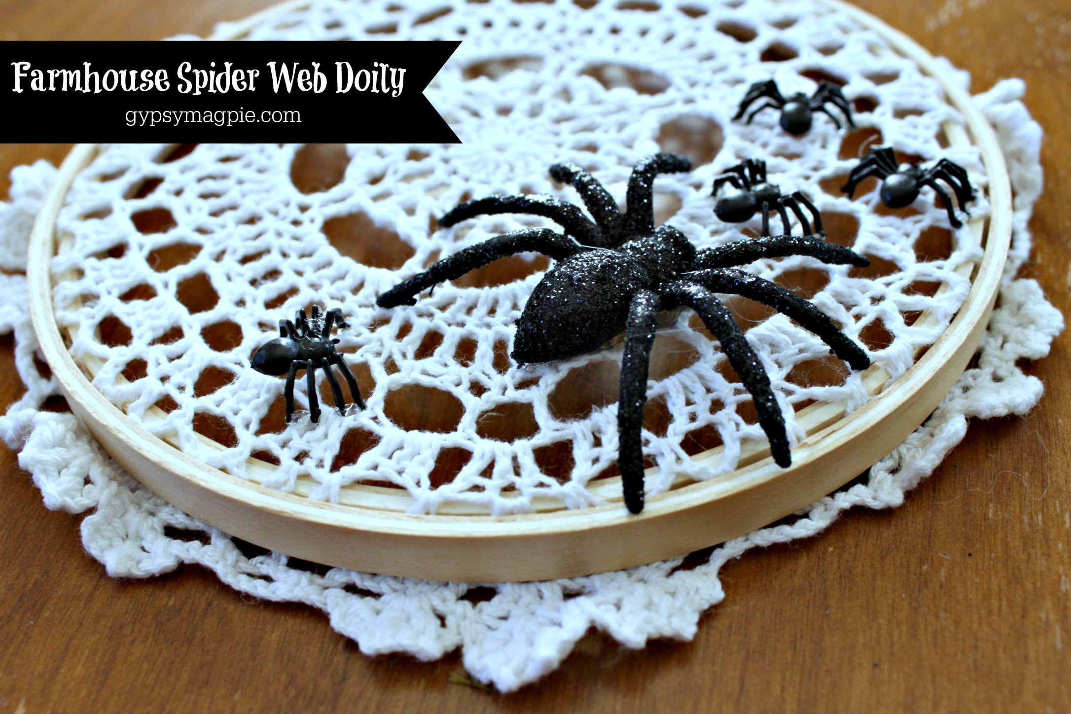 Farmhouse spider web doily | Gypsy Magpie