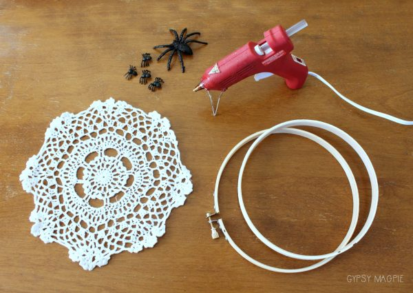 Supplies for a darling little spider web doily | Gypsy Magpie