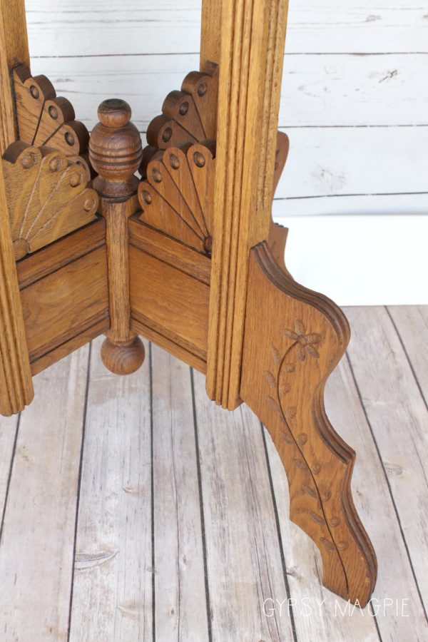 Gah! The details on this Eastlake table make me happy! | Gypsy Magpie