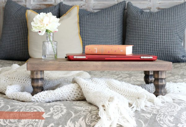 DIY Farmhouse Style Bed Tray | Gypsy Magpie