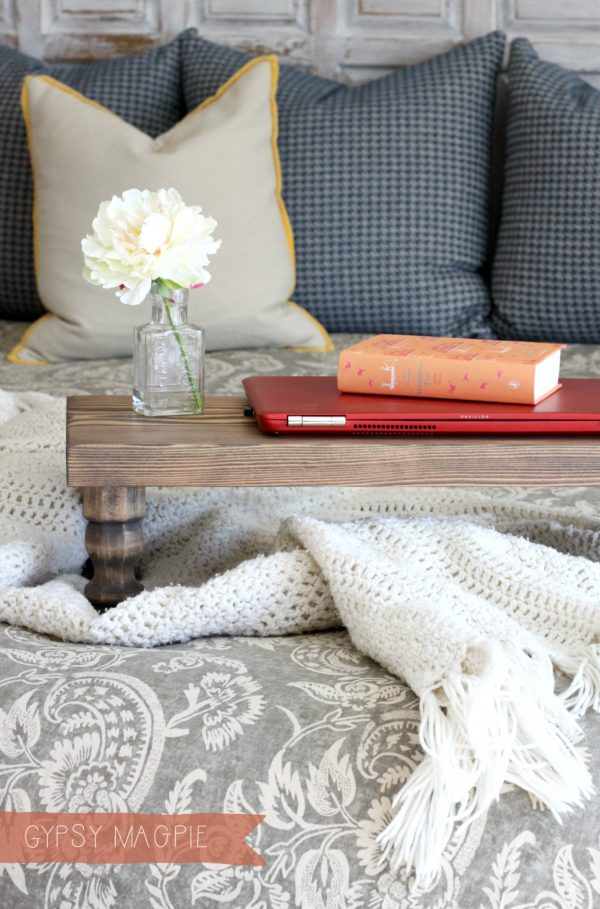 This darling DIY farmhouse bed tray could be used for so many purposes! | Gypsy Magpie