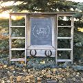 From forgotten in a flowerbed to the cutest barnwood chalkboard! | Gypsy Magpie