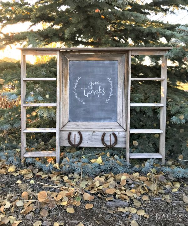 From forgotten in a flowerbed to the cutest barn-wood chalkboard! | Gypsy Magpie