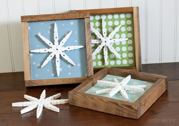 DIY glitter snowflake signs | Gypsy Magpie