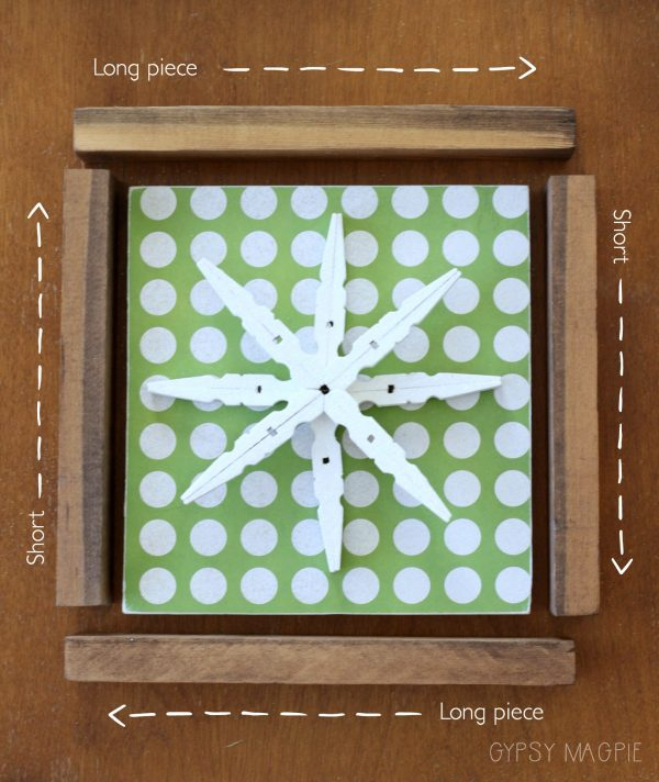 How to make a simple box frame | Gypsy Magpie