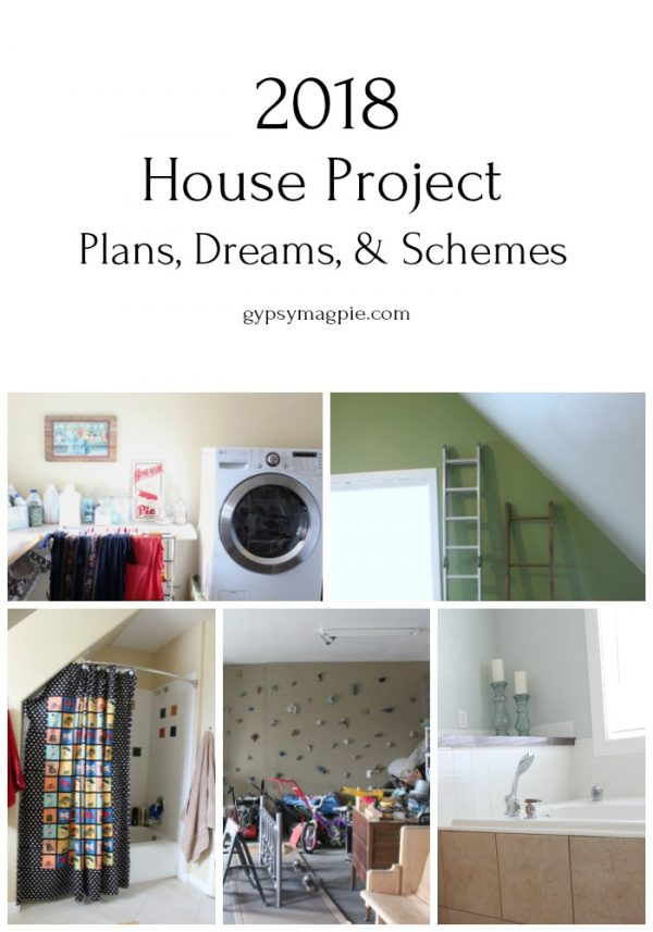 The house projects I'd love to tackle in 2018 | Gypsy Magpie