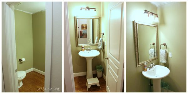 This 1/2 bath is getting a major face lift this year! 2018 house project plans | Gypsy Magpie