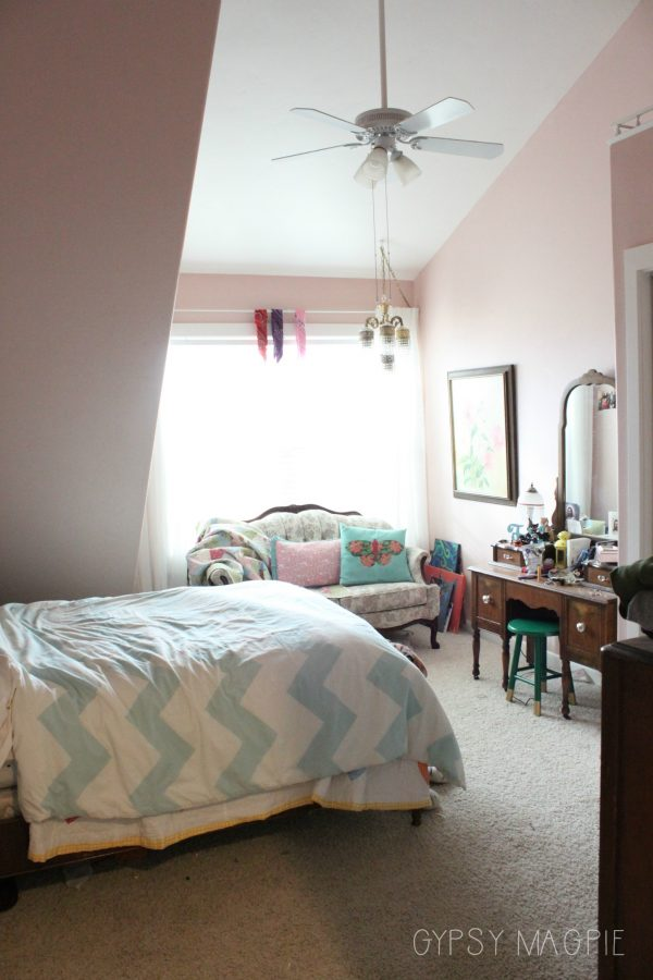 Time to turn this little sweethearts room into a teenage artist's inspiring space. | Gypsy Magpie