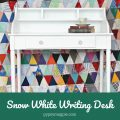 Snow White writing desk. Stop by the blog to see the before, after, and after! | Gypsy Magpie