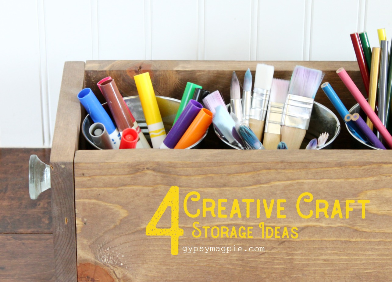 4 creative craft storage ideas | Gypsy Magpie