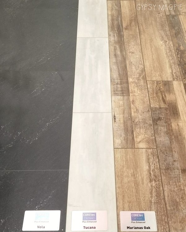Coretec LVT and LVP laid side by side | Gypsy Magpie