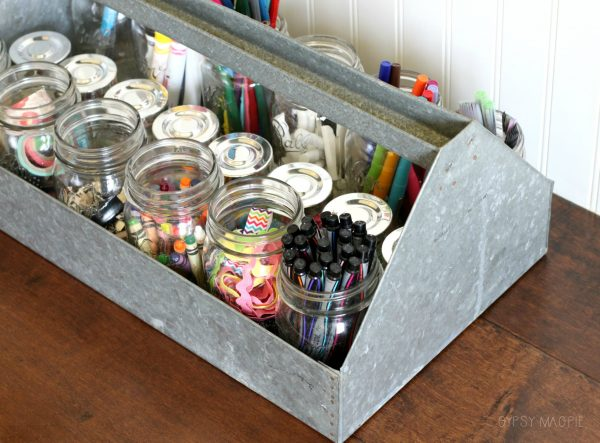 Creative craft storage using an old tool box | Gypsy Magpie