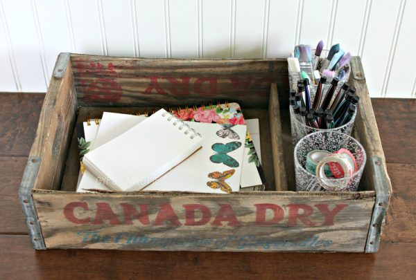 Old pop crate art tray | Gypsy Magpie