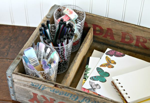 Pop crate craft organization | Gypsy Magpie