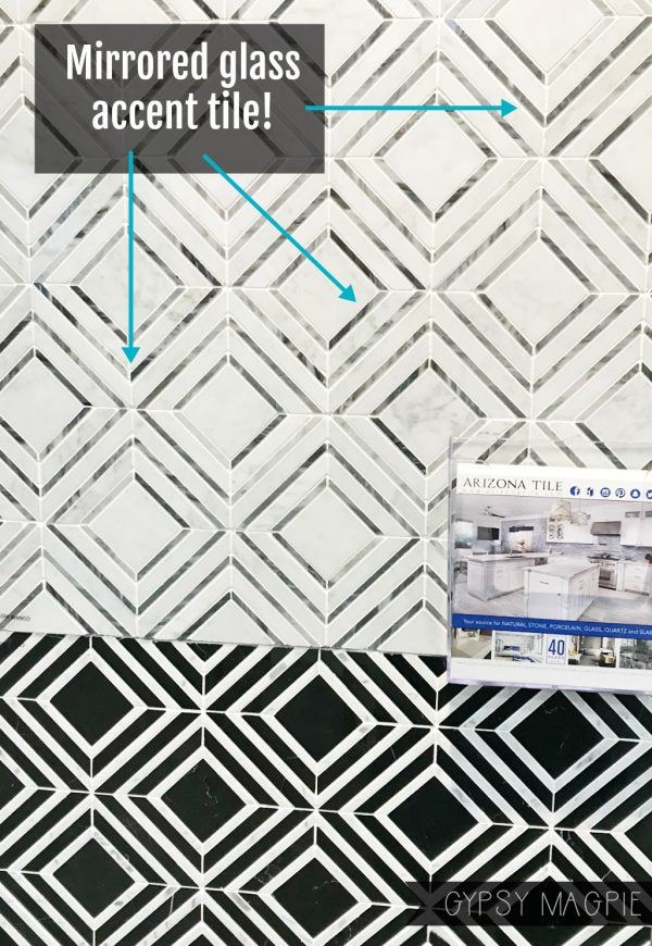 Mirrored glass accent tile from Arizona Tile | Gypsy Magpie