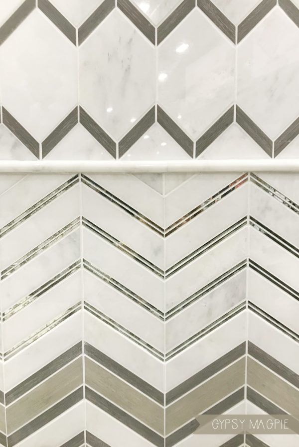 Mirrored glass tile. So pretty in person! | Gypsy Magpie
