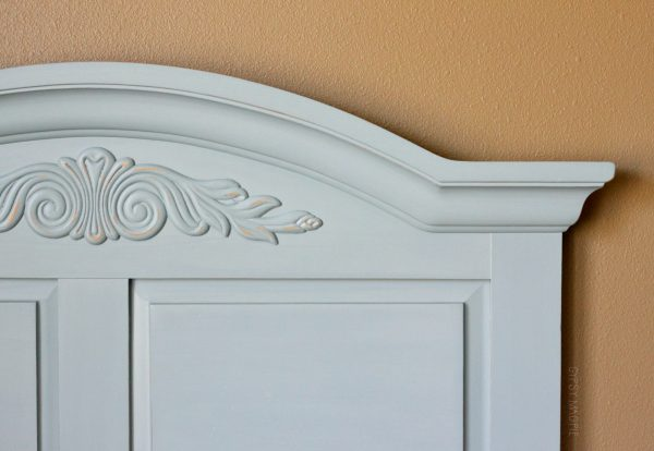 French Lane on a sweet old headboard | Gypsy Magpie