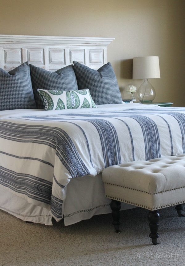 Green and navy master bedroom refresh | Gypsy Magpie