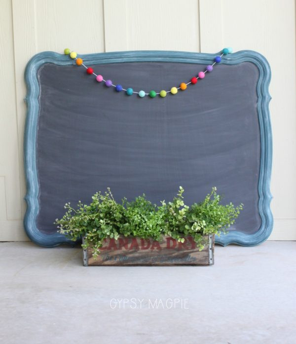 Weekend farmhouse chalkboard mirror | Gypsy Magpie