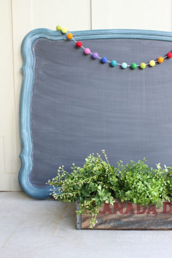 DIY farmhouse chalkboard from old mirror | Gypsy Magpie