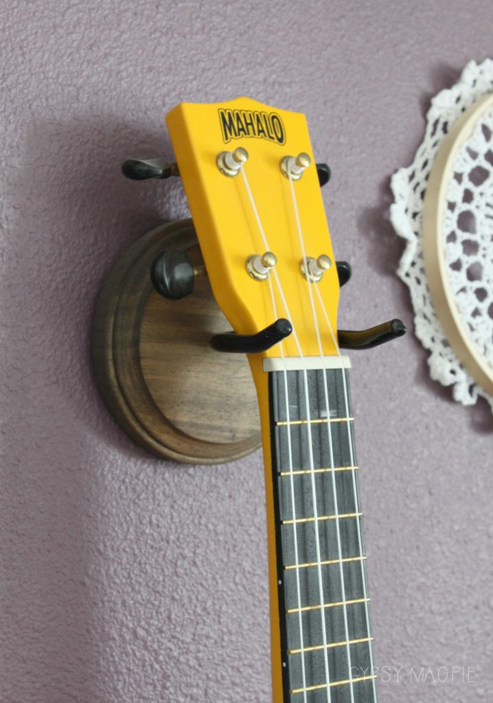 This DIY uke holder couldn't be more simple to make! | Gypsy Magpie