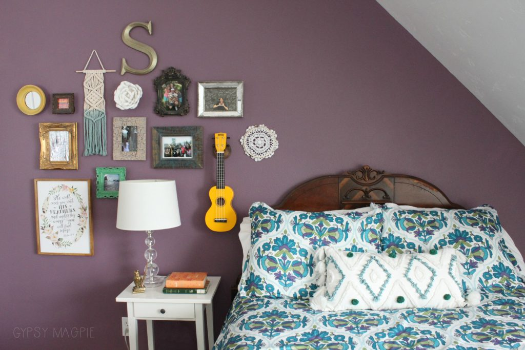 Eclectic boho gallery wall | Gypsy Magpie