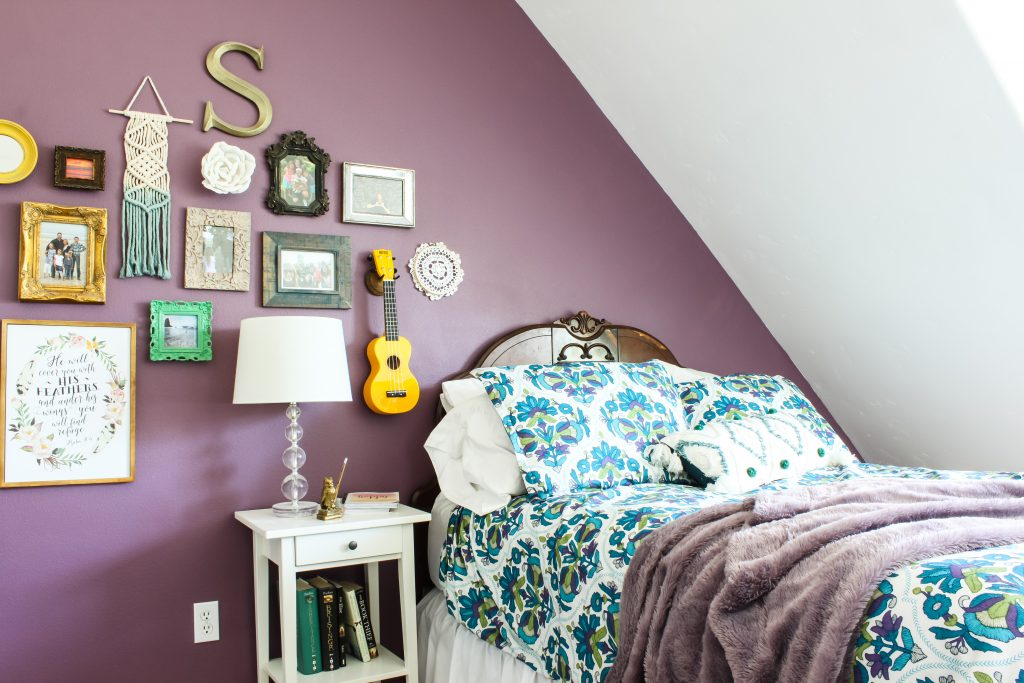 Teen Boho Bedroom with Gallery Wall | Gypsy Magpie