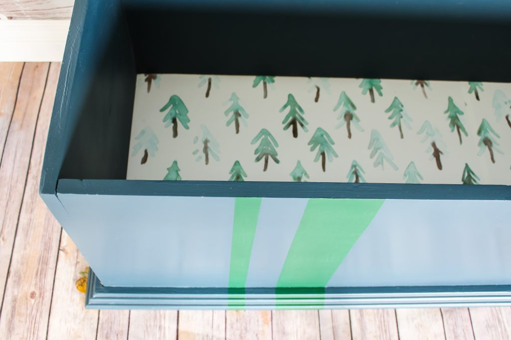 Toy box with darling paper lining | Gypsy Magpie