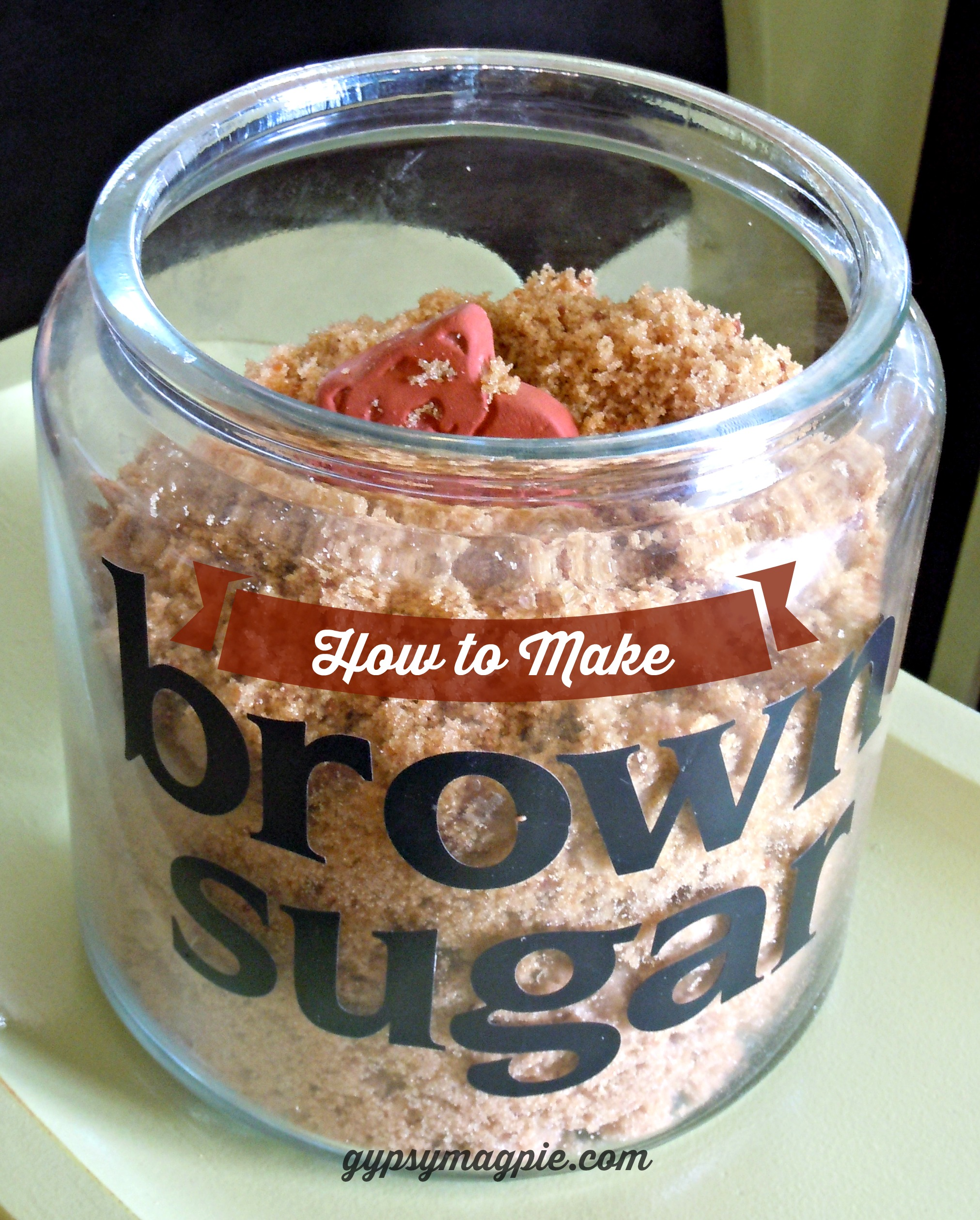 Homemade Brown Sugar Recipe {Gypsy Magpie}