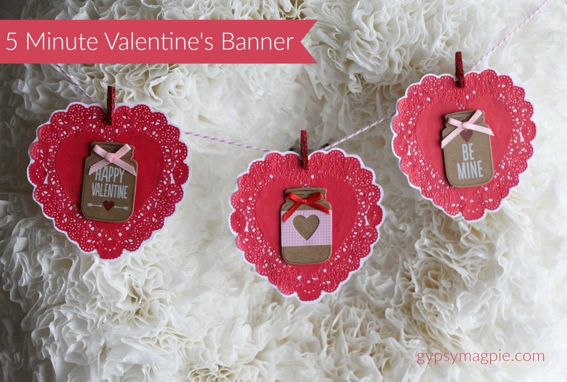 How to make an easy 5 minute banner to update a plain wreath for Valentine's Day | Gypsy Magpie