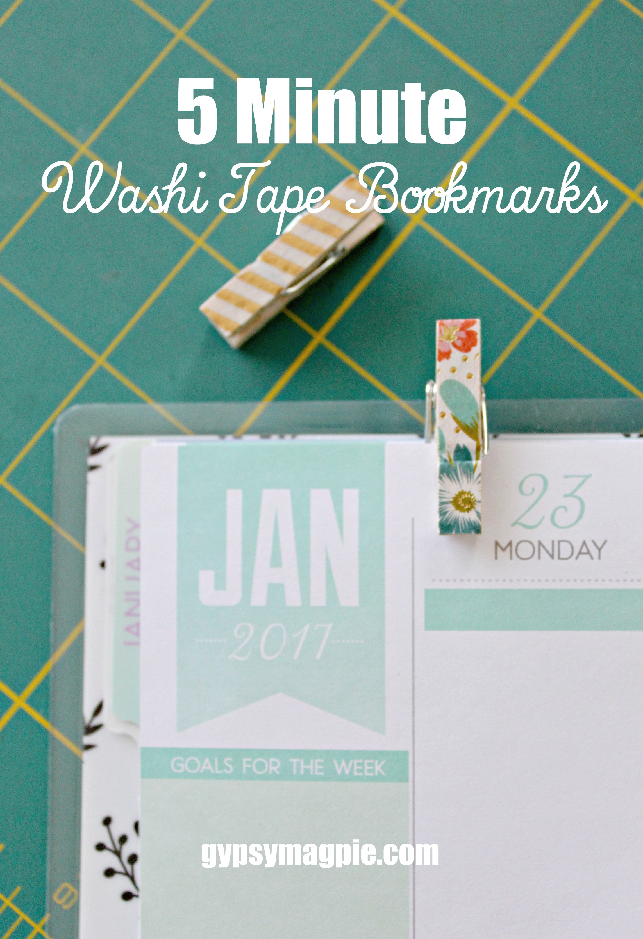 These 5 minute washi tape bookmarks are completely customizable and oh so cute! | Gypsy Magpie