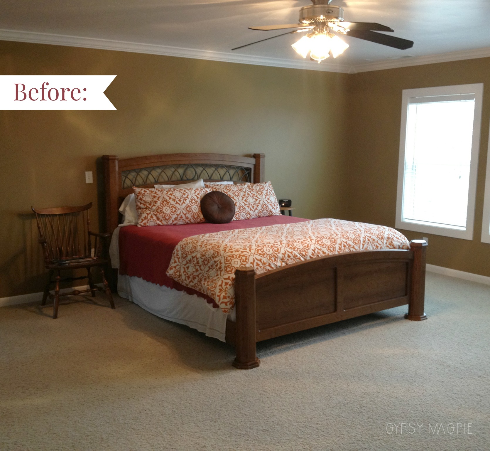 This is our master bedroom the week we moved in back in 2010. Come a long way since then! | gypsy magpie