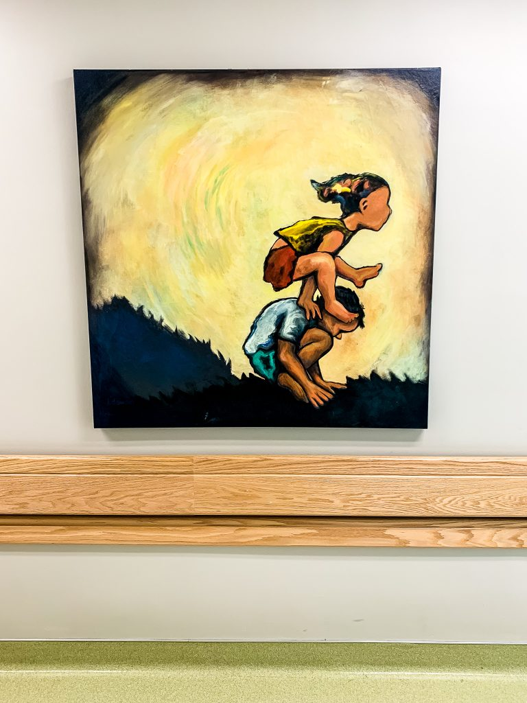 This piece of art of children playing really touched my heart while staying at Primary Children's Hospital | gypsy magpie