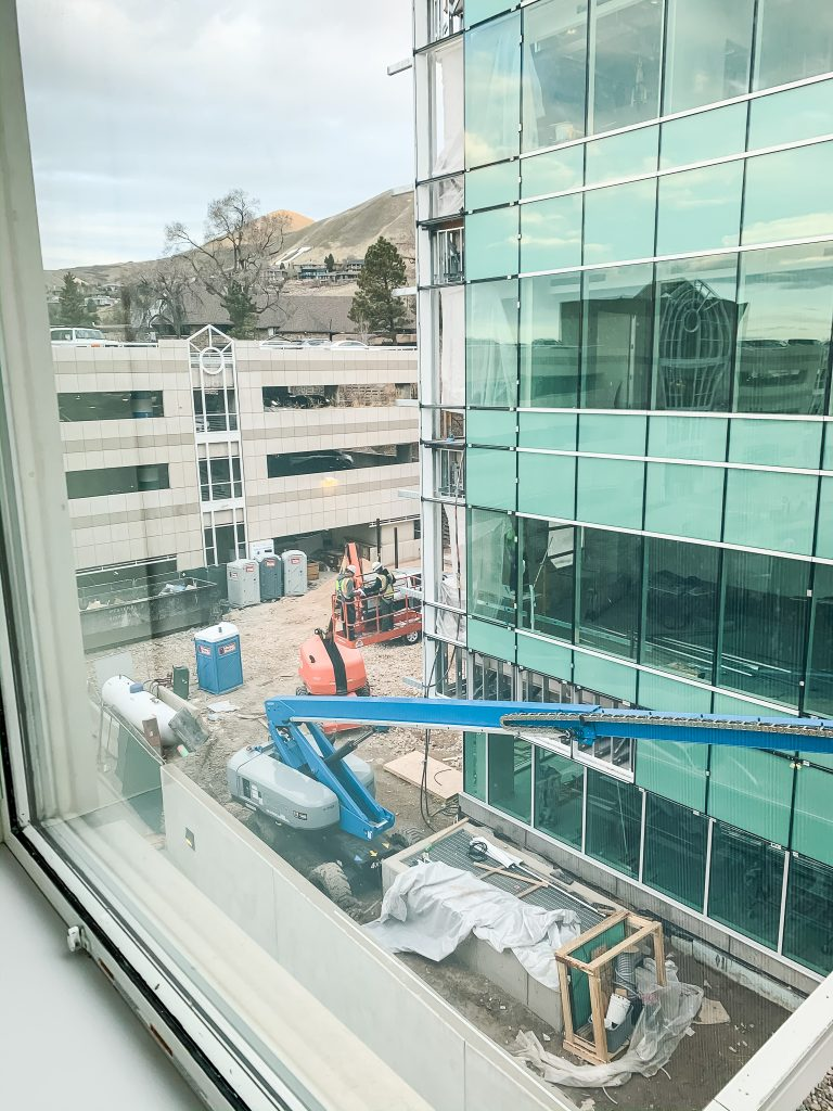 The view from our room at Primary Children's Hospital | gypsy magpie
