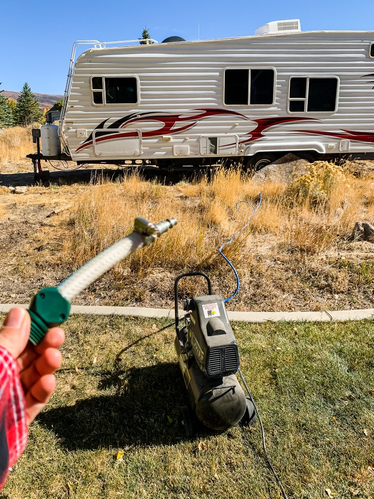 Winterizing Meg, our camp trailer | Gypsy Magpie