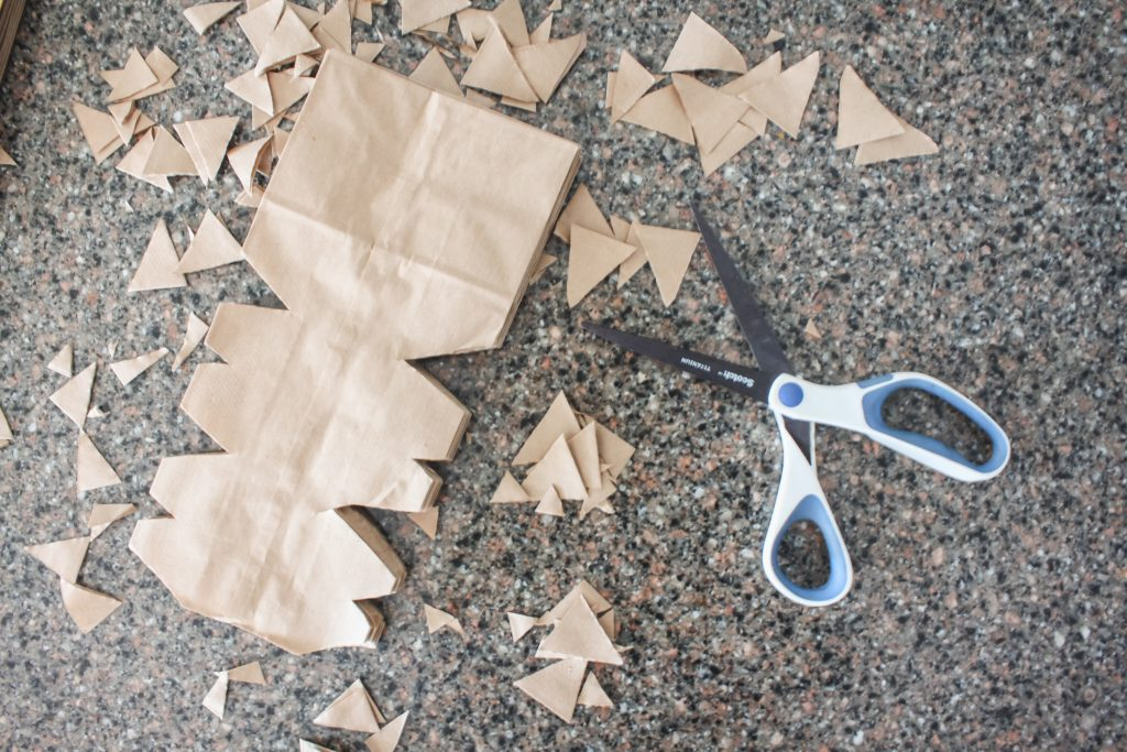 Get creative with your paper sack snowflakes | gypsy magpie