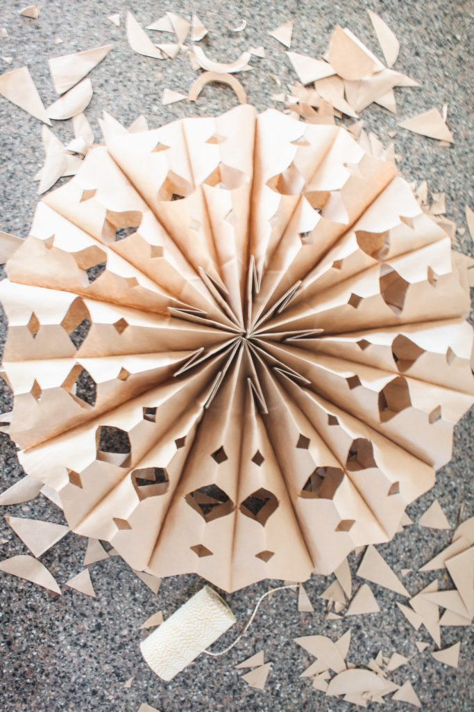 Paper sack snowflakes to liven up dull January days | gypsy magpie