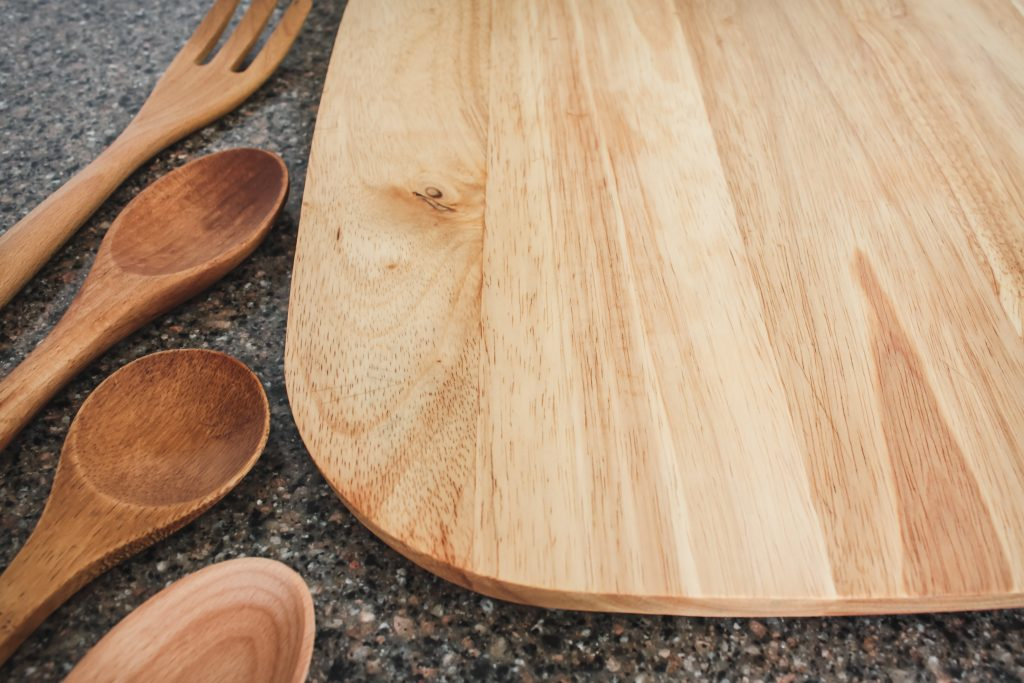 A newly oiled cutting board and utensils | gypsy magpie