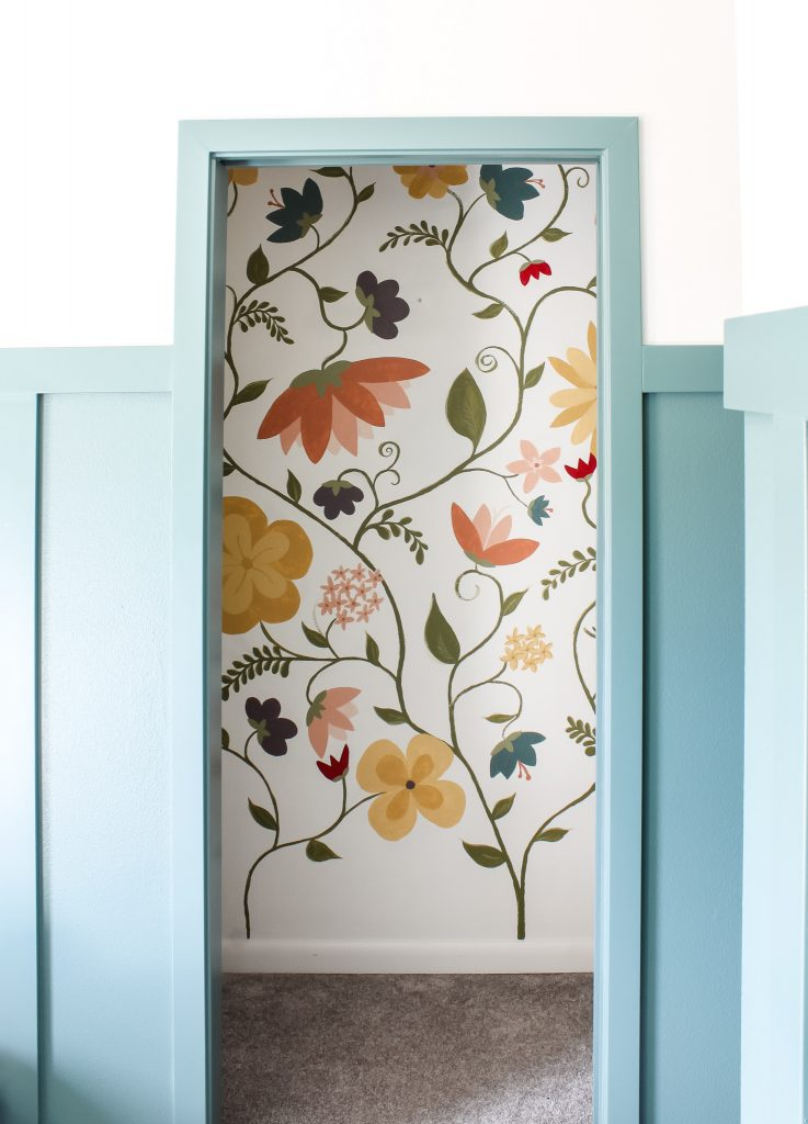 Floral closet mural AFTER | gypsy magpie