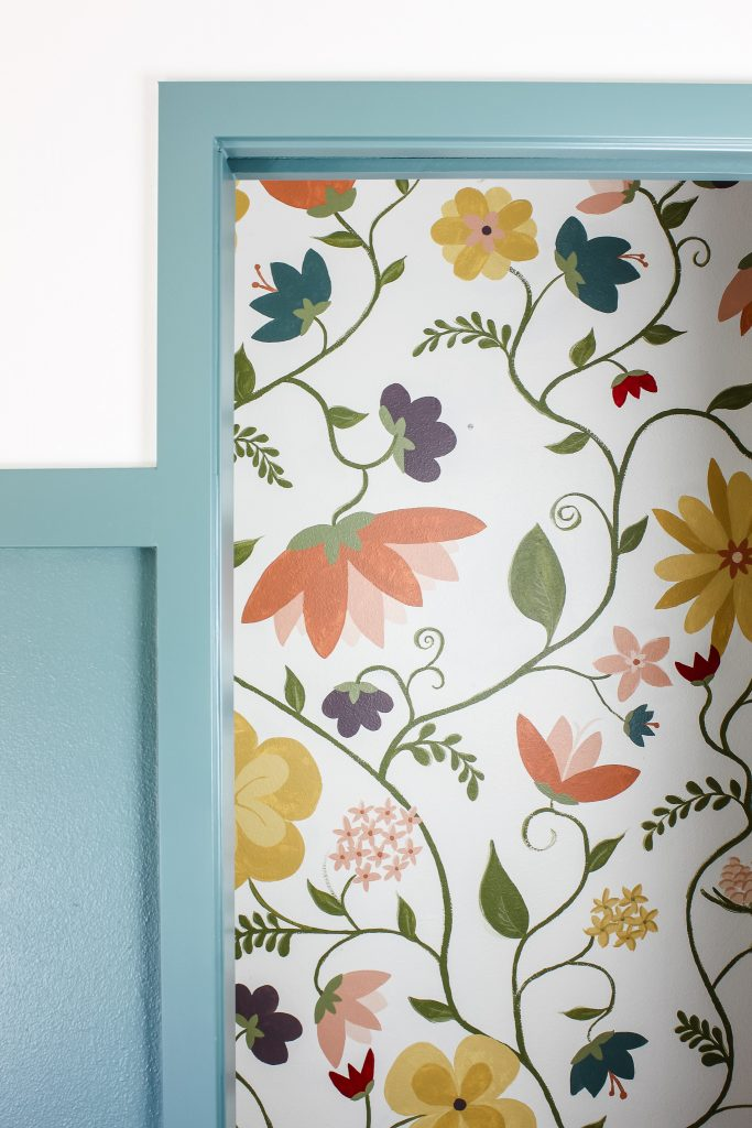 A whimsical hand-painted floral mural | gypsy magpie