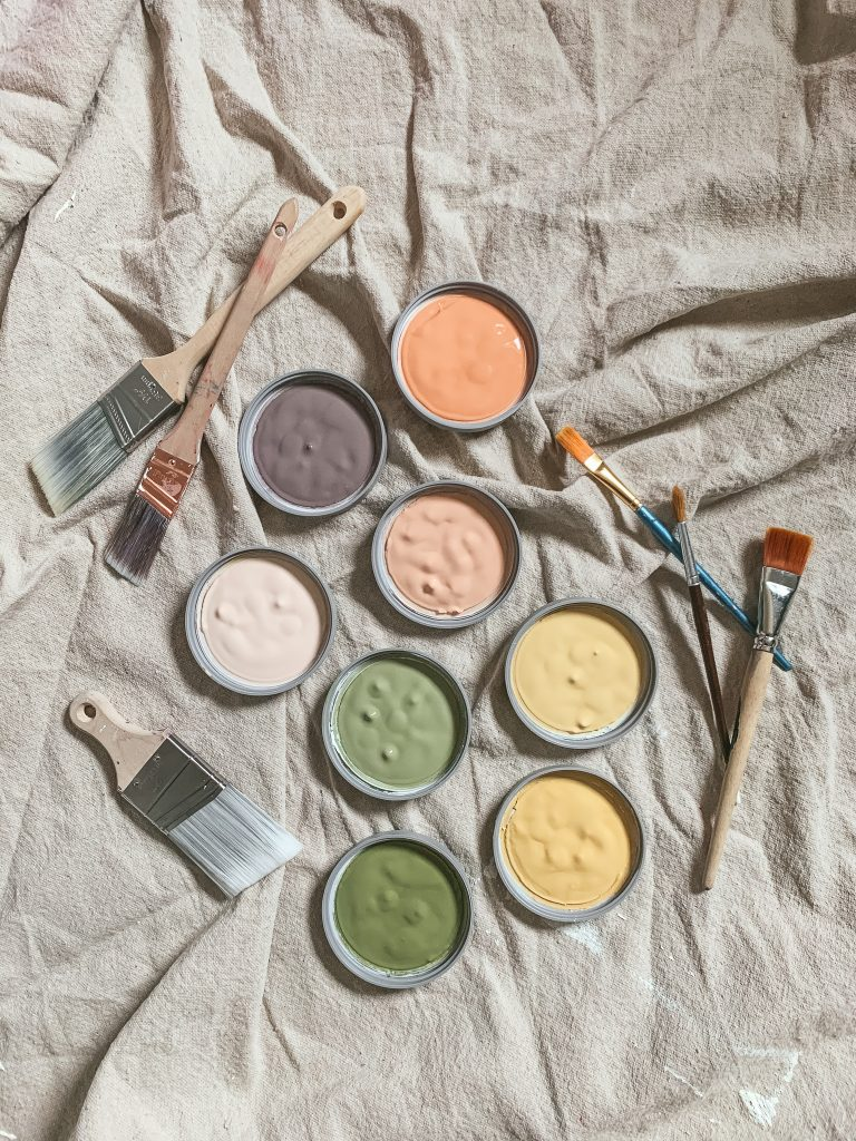 Pretty paint samples for a floral mural | gypsy magpie